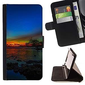 Momo Phone Case / Flip Funda de Cuero Case Cover - más Solnce zakat - Samsung Galaxy S5 Mini, SM-G800