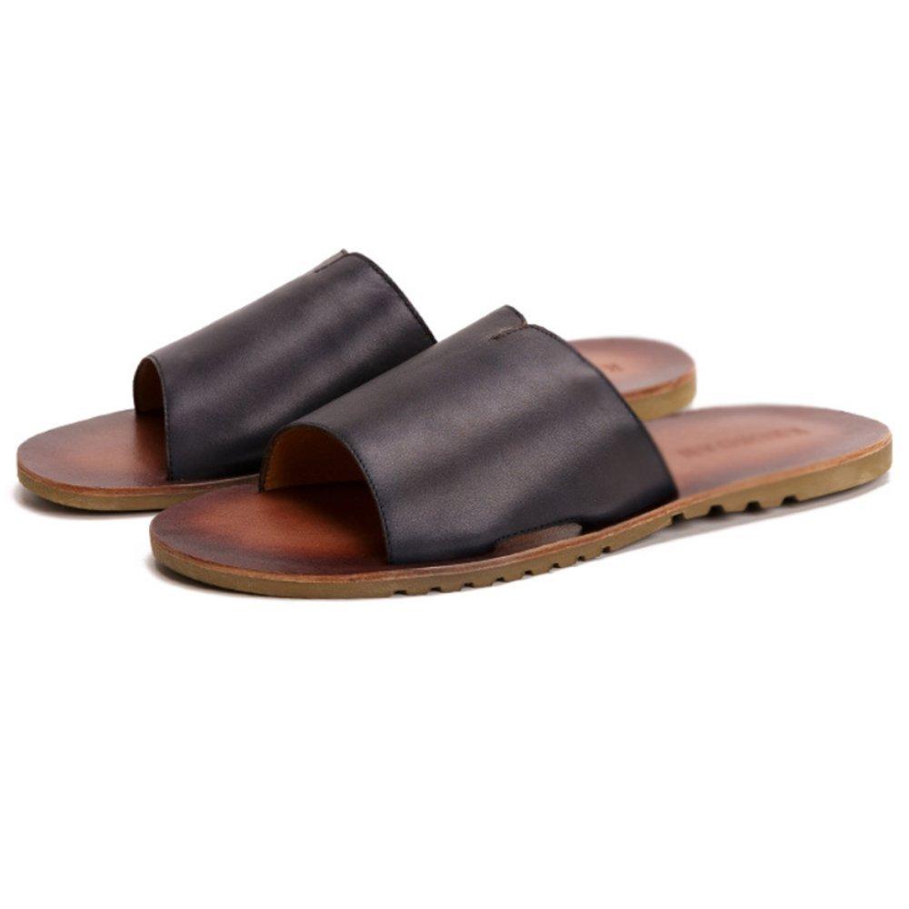ZPJSZ Männer Sommer Outdoor Rutschfeste Slip Sandalen Fashion Casual Jugend Strand Sandalen Slip schwarz 56b68e