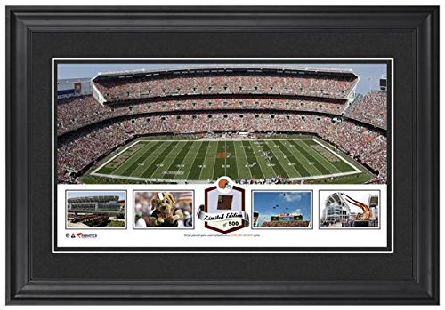 firstenergy-stadium-cleveland-browns-framed-panoramic-collage-with-game-used-football-limited-editio