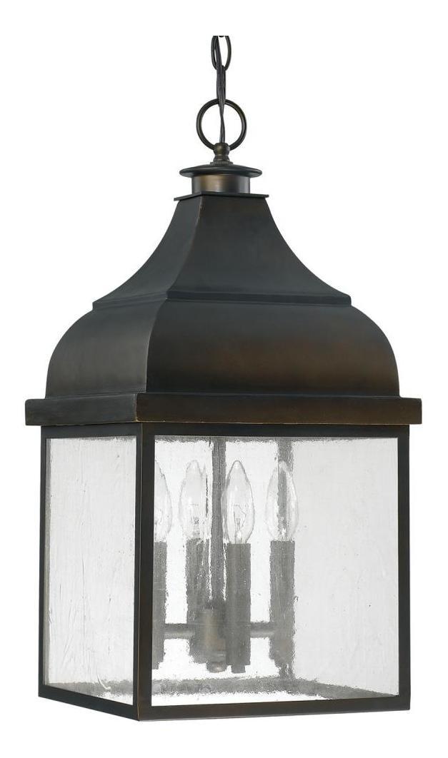 Old Bronze The Westridge Collection 4 Light Outdoor Full Sized Lantern Pendant