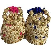 Shree Shringi Potli bags/wristlet Multi (Set of 2)