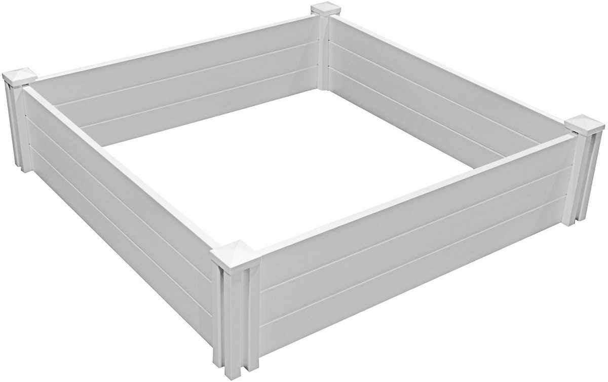 White Vinyl Raised Garden Bed 2-pack
