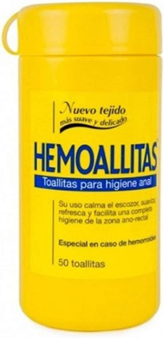 Hemoal Hemoallitas Toallitas para Higiene Anal - 50 Piezas (8413853640002)