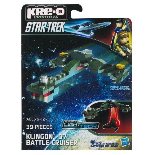 KRE-O Star Trek Klingon D7 Battle Cruiser Construction Set (A3369) (Star Trek Toys Kre O)