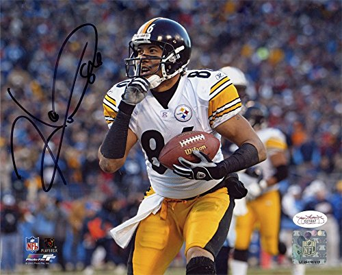 Hines Ward Autographed Pittsburgh Steelers 8x10 Photo (Shhh) - JSA (Autographed Hines Ward)