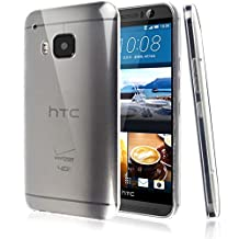 HTC One M9 Case, [Invisible Armor] Crystal Clear, Ultra Slim, Soft Resilient, Lightweight Rubber Bumper Case| Back Cove -Thinnest Case Ever.