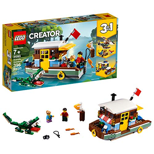 LEGO Creator 3in1 Riverside Houseboat 31093 Building Kit , New 2019 (396 Piece) (Long Outlet Island Mall)