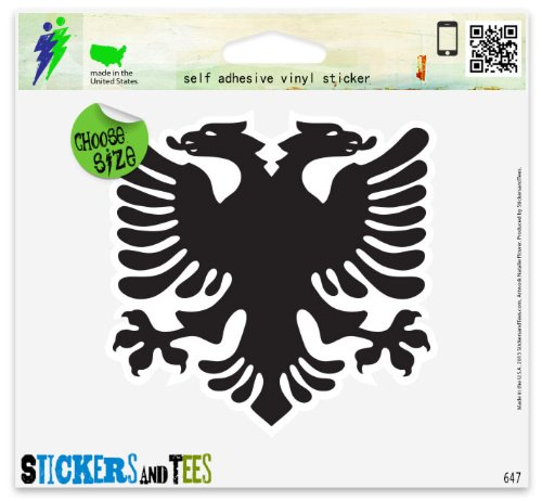 Albanian Eagle Flag Vinyl Car Bumper Window Sticker 3