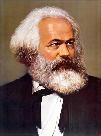 Cuadro de PVC 60 x 80 cm: Portrait of Karl Marx de Chinese School/Bridgeman Images