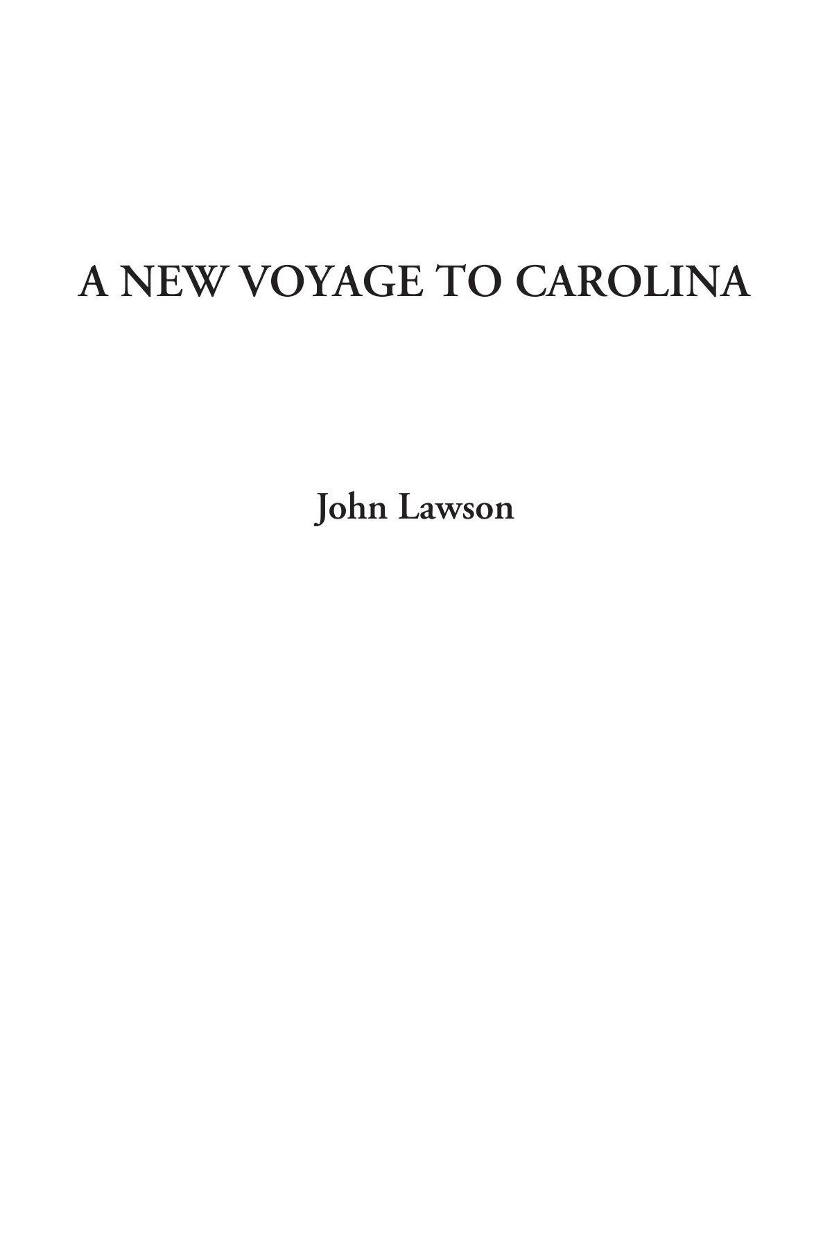 Download A New Voyage to Carolina ebook