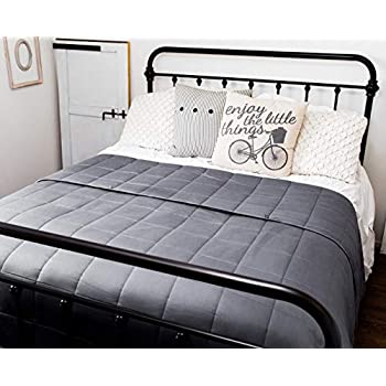 Image of HomeSmart Products Weighted Blanket 20lbs 60x80 - Provides Medium Pressure - 400 Thread Count Ultra Soft Cotton - Use as a Throw or Bed Comforter HomeSmart Products B0792HZXQW Weighted Blankets