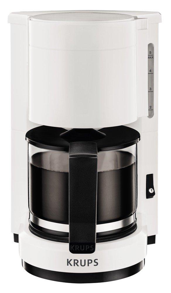 Krups AromaCafé 5 Independiente Manual - Cafetera (Independiente, Cafetera de filtro, De café molido, Blanco): Amazon.es: Hogar