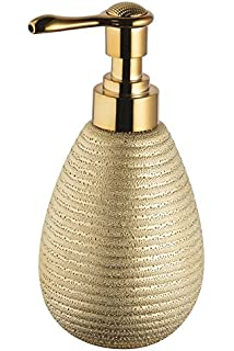 Bisk Soap Dispenser  Stoneware Gold 8 5x9x17cm Croydex Glitter Toilet Seat Amazon co uk Kitchen Home