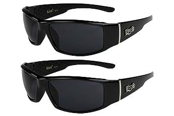 X-CRUZE® 2er Pack Locs 9078 X 07 Sonnenbrillen Unisex Herren Damen Männer Frauen Brille - 1x Modell 05 (weiß glänzend/schwarz getönt) und 1x Modell 08 (schwarz glänzend - Grid-Design/gelb getönt) a0pbos