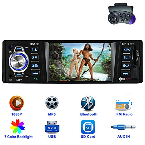CARED Car stereo MP5 player/universal Single Din with bluetooth Car Headunit radio audio receiver /MP3/USB/SD/AUX in/wireless Remote