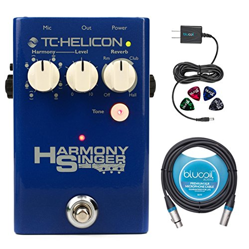 2 20 XLR Cables TC Helicon Harmony Singer 2 Vocal Processing Pedal with