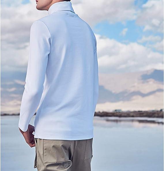 Turtleneck Long Sleeve T Shirts Men Winter Cotton White Black Slim Business Casual Tee Tops Plus Size Oversized