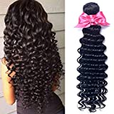 OYM Hair 10A Grade Brazilian Virgin Deep Wave Hair 4Bundles 100% Unprocessed Brazilian Deep Hair Weave Extensions Natural Color Mixed 20 22 24 26 inch