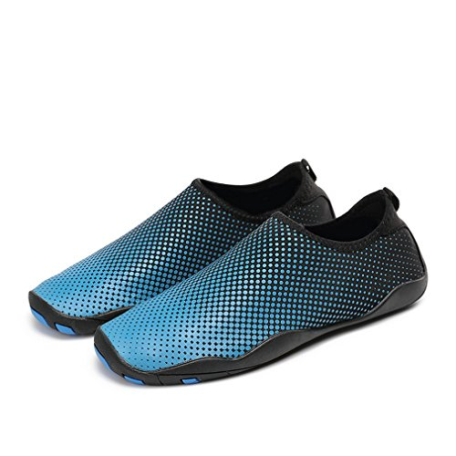 (Resmord Water Shoes Barefoot Skin Shoes Quick-Dry For Beach Swim Surf Yoga Exercise Blue tg3 (10D(M)US Men/11.5B(M)US Women EU44))