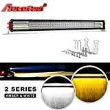 LED Light Bar Curved, Autofeel 32 inch 376W 8D Quad Row Driving Lights Emergency Lights Fog Light Snow Lights Flashing Amber Light Spot Flood Combo Beam Light Bar Off Road Lights for Truck Jeep ATV