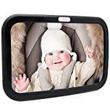 Baby Car Mirror, Car Seat Mirror, Safely Monitor Infant Child in Rear Facing Car Seat, Wide View Shatterproof Adjustable Acrylic 360°for Backseat: more info