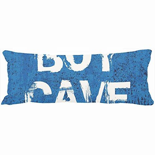 Decorative Body Pillows Funny Boys Man Cave Blue Grunge Custom Name Unique Design Home Decor Pillow Case Cover 20-Inch x 54-Inch Custom Sofa Cotton Cushion - Grunge Names Boy