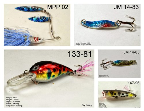 Akuna [SC] Pros' pick recommendation collection of lures for Bass, Panfish, Trout, Pike and Walleye fishing in South Carolina(Pan Fish 5-A) (Best Bass Fishing In South Carolina)