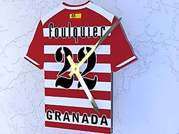 Reloj de camisa de fútbol primera la liga, Fútbol español, personalizable, Granada CF Football Shirt clock: Amazon.es: Deportes y aire libre