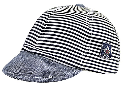 - Infant Cotton Soft Sun Hat Baby Striped Baseball Cap Sun Visors Cap Protection