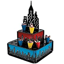 Fun Express City Buildings Centerpiece Stand with Cones