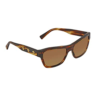 0d83f6963451 Versace Womens Sunglasses Tortoise Brown Acetate - Non-Polarized - 56mm