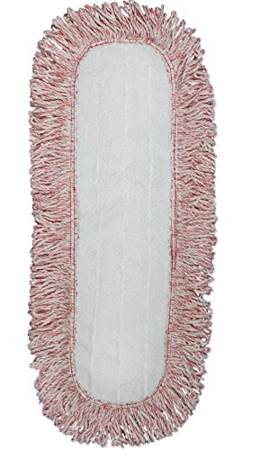 CleanAide Coral Weave Microfiber Mop Pad with Rope Border 24 inches Red