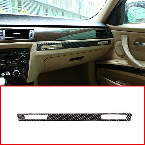 YUECHI Soft Carbon Fiber Material for BMW 3 Series E90 2005-2012 Car Accessoires Dashboard Cup Holder Decoration Strips Trim Stickers 1pc (Type 2) from YUECHI