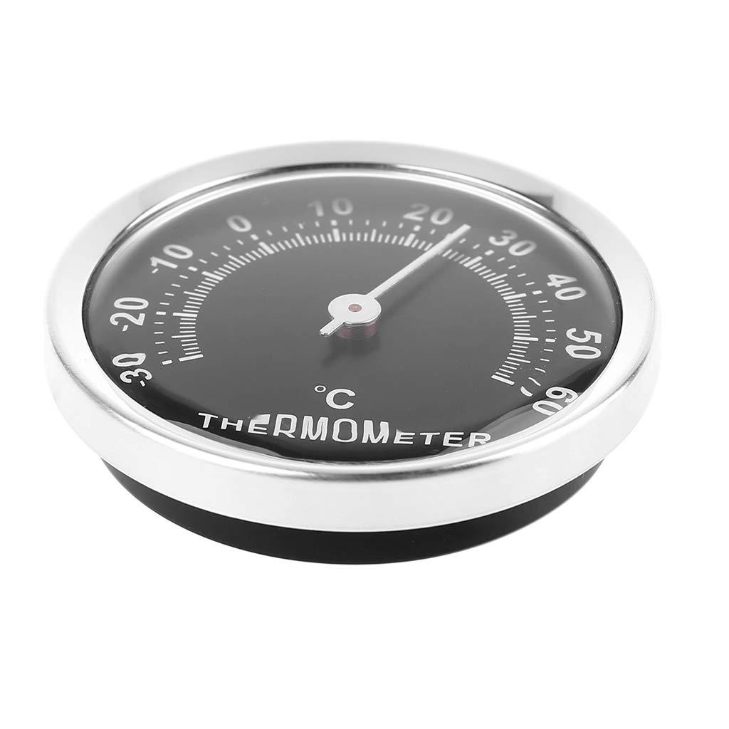 58 mm, incluye pegatina Qiulip Term/ómetro anal/ógico para coche
