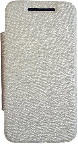 Caidea Flip Cover Leather for Moto E  White
