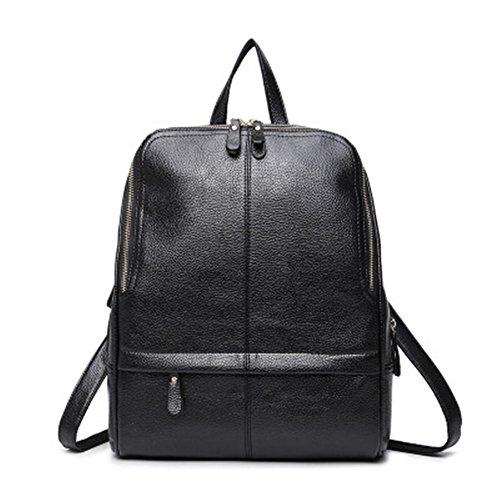 Meaeo Neue Mode Handtaschen Fashion Bag Student Tasche, Blau Black