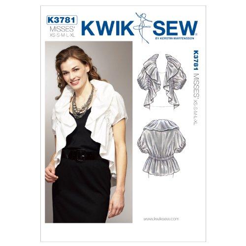Kwik Sew K3781 Ruffle Bolero Jacket Sewing Pattern, Size XS-S-M-L-XL