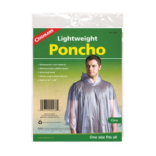 (Coghlans 9266 Lightweight Poncho - Clear)