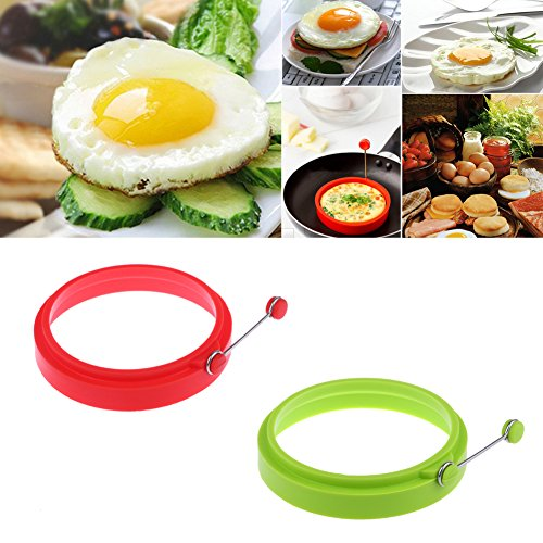 JD Million shop New Silicone Fried Egg Pancake Ring Omelette Fried Egg Round Shaper Eggs Mould for Cooking Breakfast Frying Pan Oven Kitchen