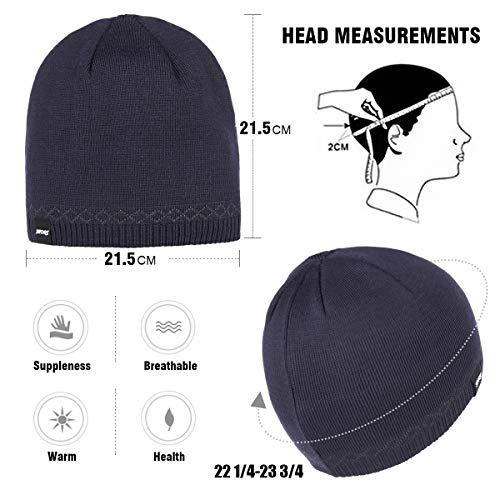 bd469b0e671 OMECHY Mens Watch Hat Winter Warm Knitting Hats Plain Cuffed Toboggan  Beanie Skull Cap 4 Colors
