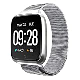 Buybuybuy Y7 Bluetooth Smart Watch Fitness Tracker, 1.3 inch TFT Touchscreen Sport Watch Camera Pedometer Sleep Monitor Call/Message Reminder for iOS iPhone Android Samsung Smartphones (Silver)