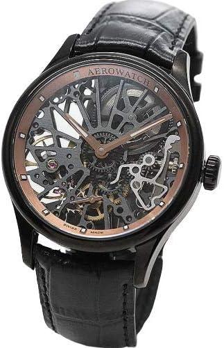 [アエロ]AERO スケルトン Cobweb 手巻き式 腕時計 ブラックカラー A50981NO20 [正規輸入品]
