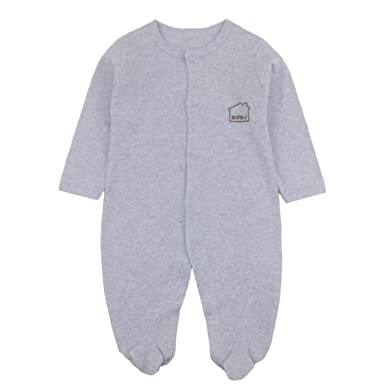 Amazon.com: Pijama de manga larga unisex para bebé recién ...