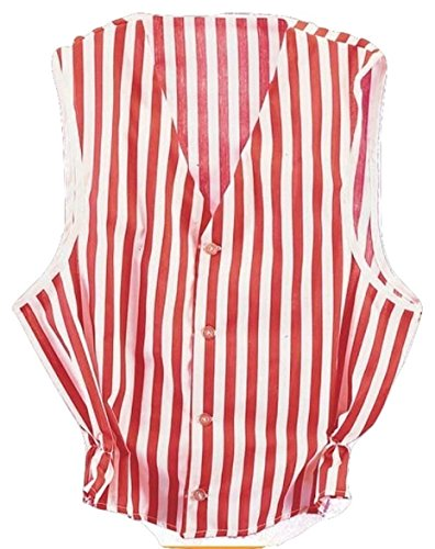 Red White Striped Vest Barbershop Quartet Singers Stage Adult Costume Accessory (Barbershop Costume)