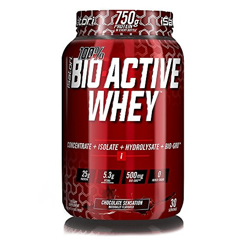 iSatori 100% BIO-ACTIVE WHEY Elite Whey Protein Formula with Added BIO-GRO FOR Strength, Muscle and Recovery – Chocolate Sensation / 30 Servings Review