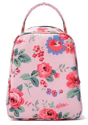 MELROSE Women Fashion Ultra Light Small Lunch Bag Lunch Handbag Box (Lady Pink)