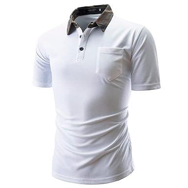 Mieuid Hombre Polo Camisa De Manga Corta De Camuflaje De Verano ...