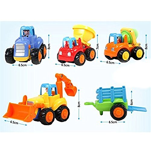 Truck Toys For 3 Year Olds : Push and go cartoon friction powered play engineering