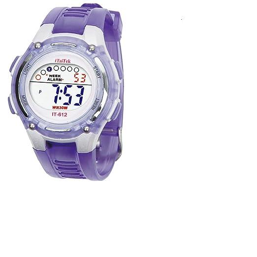 Cebbay Liquidación Imported Niños Niños Niñas Unisex Natación Deportes Digital Impermeable muñeca Reloj (púrpura): Amazon.es: Relojes
