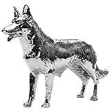 CPW (TM) Chrome German Shepherd Dog Metal Emblem For Semi Truck Hood Ornament MACK PETERBILT KENWORTH